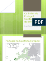 Os Limites de Portugal Continental e Da Europa