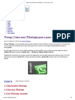Wasap_ Aquí está todo sobre Whatsapp - Como usar paso a paso