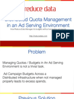 quota management at reduce data