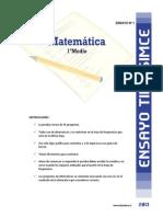 Ensayo1 Simce Matematica 1medio 2013