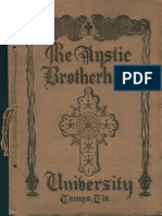 The Mystic Brotherhood University (late 1920s)