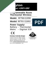 Digistat 2RF_ 3RF Installation Instructions