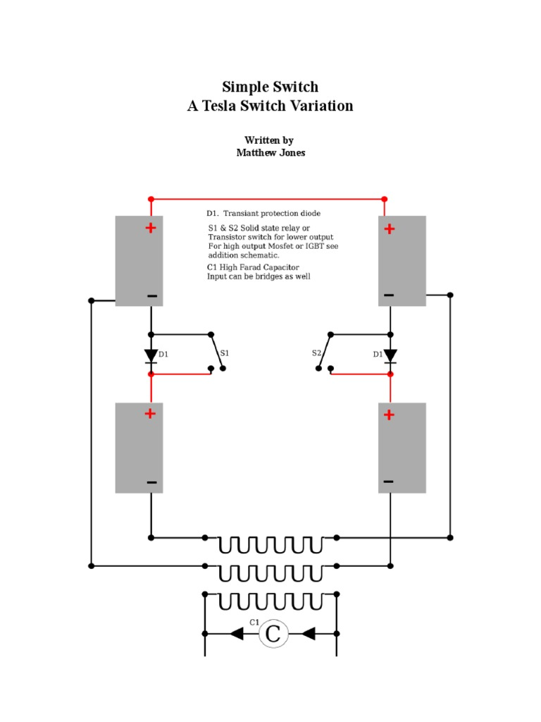 Tesla Switch Guide Rectifier Transformer Solid State Relay Stays On