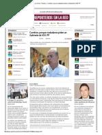 13-01-2014 'Cambios, porque ciudadanos piden un Gabinete de 100_ PP'.