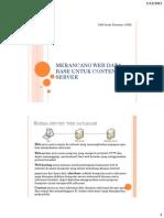 Merancang Web Data Base Untuk Content Server by Arya Upload 1