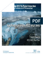 Key Findgs of the IPCC