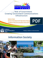CIGF 7 - The Role of Government Growing Government Communications Infrastructure_Mr_RodneyTaylor