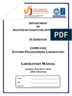 10mca36-Systems Programming Lab Manual 2013-14