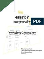 Paralelismo en Monoprocesadores - Superescalares