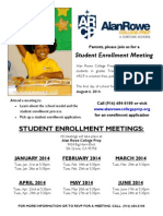 2014-2015 Student Enrollment Meeting - ARCP