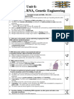 DNA Unit Review Sheet