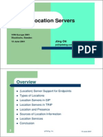 Sip Location Servers