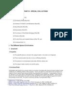 Civil Procedure Part 3 Special Civil Actions