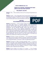 Batas Pambansa Blg 129 - Judicial Reorg Act