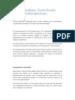 Multiculturalismo, Teoría Social y Contexto Latinoamericano