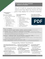 MD Drivers License Factsheet.01.14.2014
