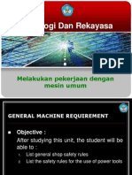General Machine Requirement (9) Ingg