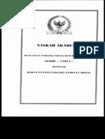 Ruu Rancangan Undang-undang Tentang Badan Penyelenggara Jaminan Sosial