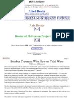 Roster of Halverson Project No. 63 crews