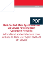 Back-To-Back User Agent (B2bua) Sip Servers Powering Next Generation Networks