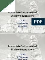 Immediate Settlement of Shallow Foundations