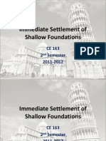 Immediate Settlement of Shallow Foundations