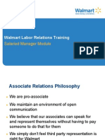 Walmart Manager Labor Relations Training