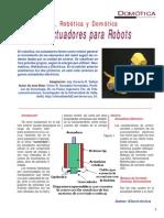 6 - Tipos de Actuadores Para Robots