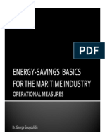 Energy-Savings Basics For The Maritime Industry - Operational Measures