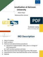 Internationalisation at Kairouan University