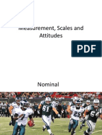 Measurement Scales and Attitudes