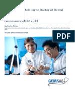 2014 Dentistry GEMSAS Admissions Guide