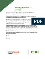 Creative Reading Bulletin 1
