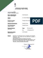 Certificate Dgi