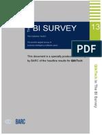 BARC Survey on BI Tools Dec 2013