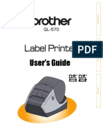 Brother QL 570 printer / labeler