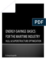 Energy-Savings Basics For The Maritime Industry - Hull & Superstructure Optimization