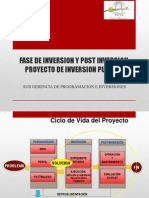 Fase de Inversion y Post Inversion Proyecto de Inversion Publica