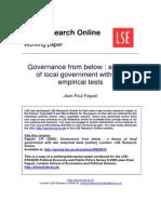 Faguet, JP Governance From Below