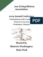 Arkansas Living History Association 2014 Annual Conference