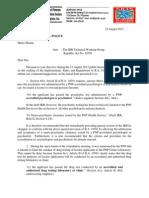 AFAD Position Paper RA10591