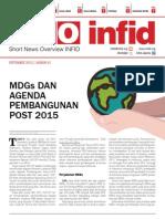 SNO INFID - SEPTEMBER 2013 - MDGs dan Agenda Pembangunan Post 2015