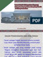 Kebijakan Pemerintah Kabupaten Kupang Dalam Menyikapi Konflik di Bidang Pertanahan