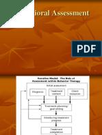 Lecture 7 Behavioral Assessment