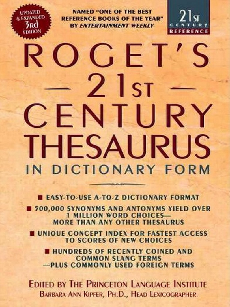 Roget S 21st Century Thesaurus  3rd Edition