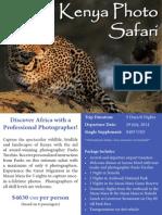 Travel Wild - Kenya Photographic Safari With Paolo Torchio - JulyAugust 2014