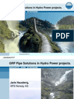 1. Jarle Hausberg - GRP Pipe Solutions in Hydro Power Projects