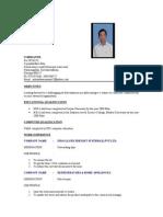 Sri Resume
