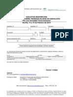 Solicitud de inscripción a las Jornadas de Transeualidad Andalucia