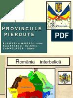 Romania Provinciile Pierdute